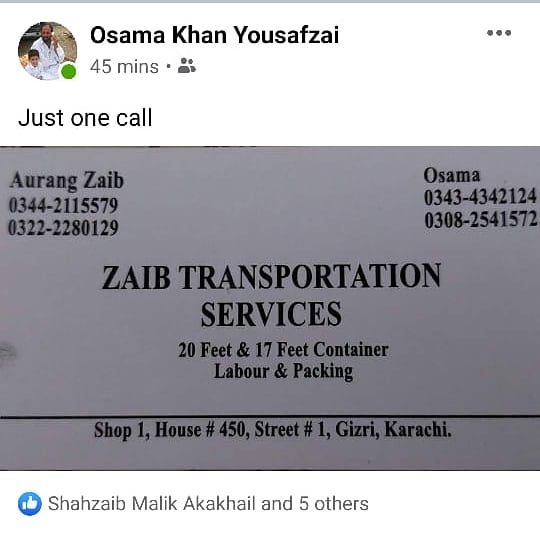 zaib transportation services