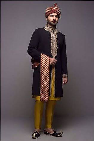 new design jamawar sherwani with qulha summer season sherwani