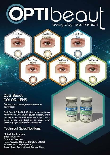 new Opti beuat eyes lenses